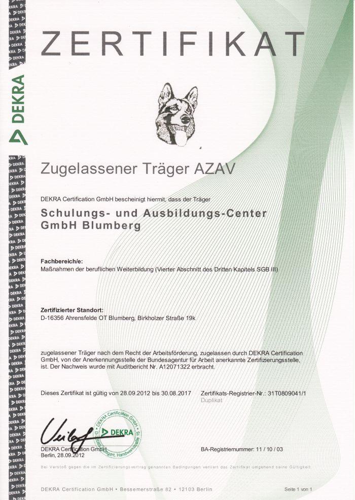Schulungs- und Ausbildungs-Center GmbH Blumberg - Ausbildung ...